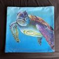 Sea Turtle Throw Cushion