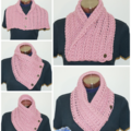 Vintage look Crochet cowl / Neck warmer / scarf - FREE SHIPPING