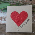 Valentine's Day Card I Love You Card Anniversary Card Just Because Card