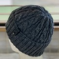 Arcadia Cable Pattern Handmade Knitted Beanie - Black