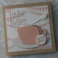 Tea Cup Card Happy Birthday Card Cup and Saucer Card Madhatter Tea Party