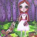 """Little Red Riding Hood"" Art Print by Jaz Higgins Whimsical Girls Room FREE POST"