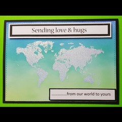 """""""Hugs for the World"""" - Blank, Thinking of you, Personalised"""