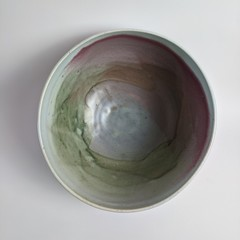 Colourful Rainbow pottery bowl