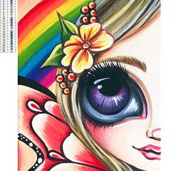 """5D Diamond Painting Kit """"Rainbow Fairy"""" - Complete Art Kit Full Round Drill"""