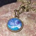 Small round bronze necklace