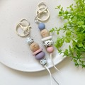 Heart Hands Terrazzo Silicone Keyring
