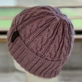Arcadia Cable Pattern Handmade Knitted Beanie - Dusk