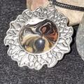 Silver circular shape pendant