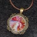 Bronze round necklace