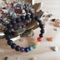 7 Chakras Lava Bracelets