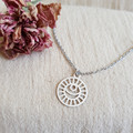 Lunar Stainless Steel Pendant on Fine Sterling Silver Chain
