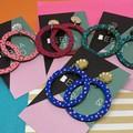 Handpainted hoop earrings
