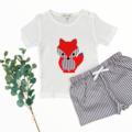 2 piece set - Fox - Tshirt - Shorts - Size 2