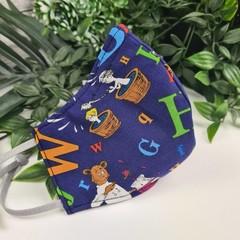 Alphabet Seuss - Face Cover (Mask) - 3 Layers - Unisex