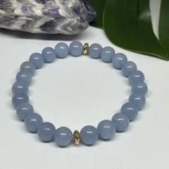 Angelite Stretchy Bracelet | Adorn