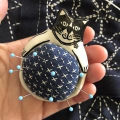 Cat 🐱 Pin cushion pottery