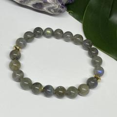 Labradorite Stretchy Bracelet | Adorn
