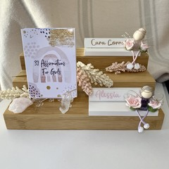 Affirmation Cards for Girls with Display Stand