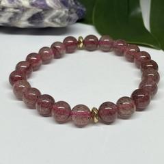 Strawberry Quartz Stretchy Bracelet | Adorn