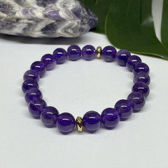 Amethyst Stretchy Bracelet | Adorn