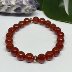 Carnelian Stretchy Bracelet | Adorn