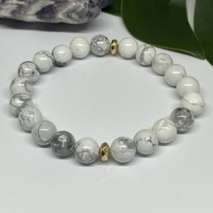 Howlite Stretchy Bracelet | Adorn