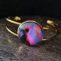 Round gold bangle