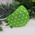 Spotty Lime Green and White - Face Cover (Mask) - 3 Layers - Unisex