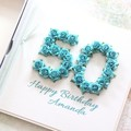 50th Birthday Card, 10 Colours, Personalised Handmade 40th Birthday Card For Her