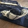 Bird Pin cushion pottery
