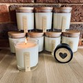 Caramel Pecan Pie | Scented Candle | Soy Wax | Clear Glass & Wooden Lid