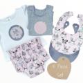 5 piece set - Pink Fox - Bloomers - Tshirt - Singlet - Bibs - Size 00