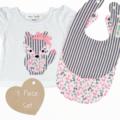 3 piece set - Fox - Tshirt - Bibs - Size 000