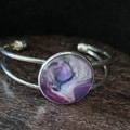 Silver set bangle