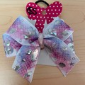 Double looped classic mermaid bow. (small bow)