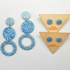 Pale Blue Dangles and Studs Pack