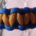 Blue & Gold Macrame Bracelet