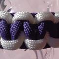 Purple & White Macrame Bracelet