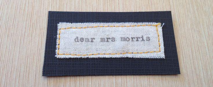 dear mrs morris