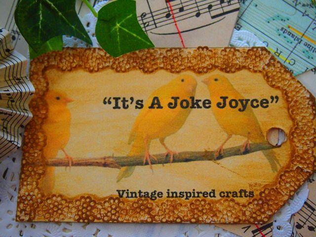 """""""It's A Joke Joyce"""""""